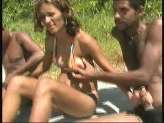Brasilianisch schwanger nutte gangbang