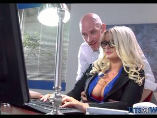 Fucking with Thick Blonde Secretary, F...