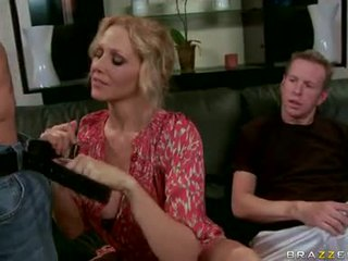 Julia Ann Blonde Milf Play And Engulf The Hard Dongs
