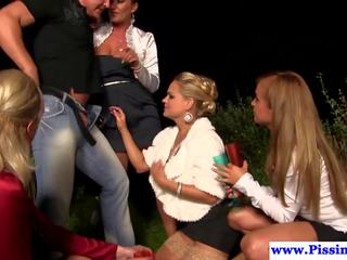 Urine Drenched Eurobabes Fuck Dude Outdoor: Free HD Porn 5b
