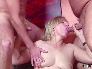 German Young Boys Seduce MILF to Fuck in Threesome: Porn 26