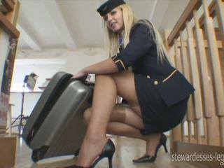 Leggy stewardessa erica