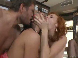hardcore sex, oraalseks, topelt tungimist