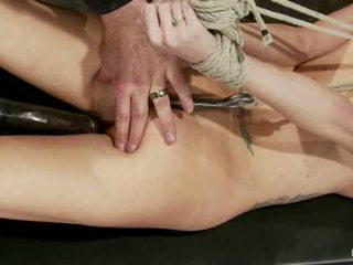 Hot Flexible Blond Suffers A Category 5 Suspension Anal Hook Heavy Nipple Weights Made To Cum1