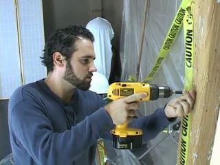 Construction munkás takes egy szünet hogy beat ki
