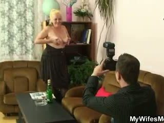 Naughty mom gets shagged after photose...