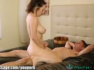 NuruMassage Cougar Stepmom gets Sons Cock