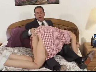 bruneta, orálny sex, double penetration