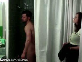 kissing, femër miqësore, dush