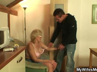He Shafts Old Mom In Law Nice Onto The...
