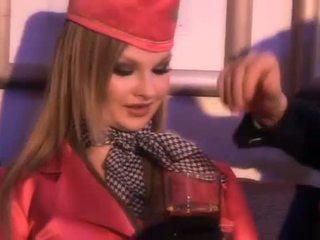 Glamuur stjuardess imemine üks paks pilots peenis