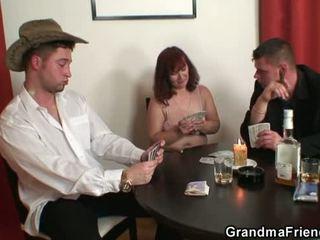 grandma, threesome, mature