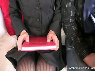 She Touches And Drills Two Meat Sticks At Job Interview