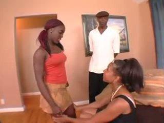 trio, zwart en ebony, anaal