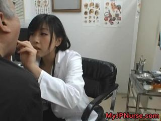 Japanese Doctor Is Horny For Cucumber
