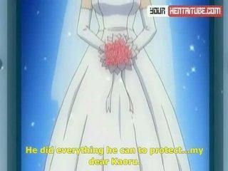jeune mariée, dessin animé, hentai
