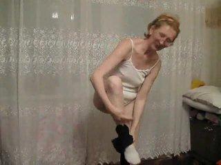 striptíz, babička, staršie amateur