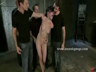 Chick hooks up with older guy that fucks her senseless with a bunch of his friends
