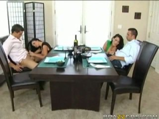 Husbands swap horny Wives before dinner