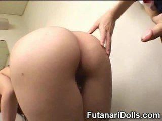 japanese, futanari, hairy