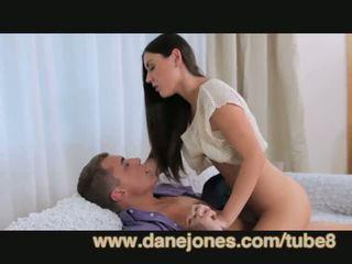 brünette, jung, oral sex