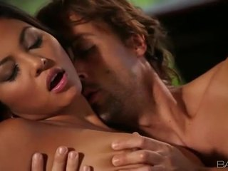 Busty asian Adrianna Luna sucks n plowed