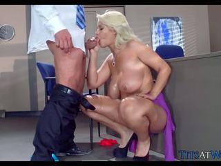 Huge Blonde Detective Tits at Work, Free Porn 10