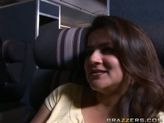 Hot babe gets knullet ved pilot's cabin video