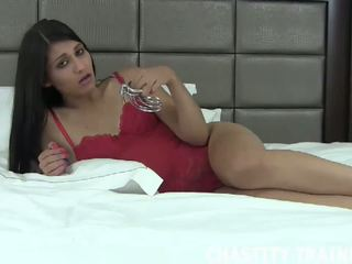 Your sik is now my property, mugt chastity trainer hd porno
