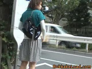 野外プレイ, アップスカート, 熱いアジア女の子