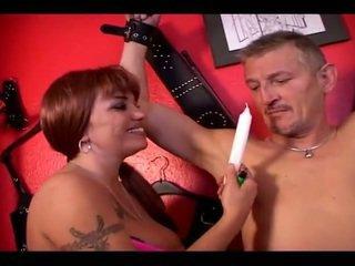 Mistress Rubbing Around Her Slaves Zon...
