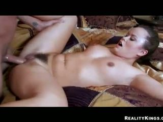 Hot Kaci Star takes a Cock deep in her hairy pussy