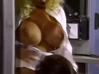 Betty and her boobs long nails vid