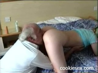 Teen getting fucked by old man