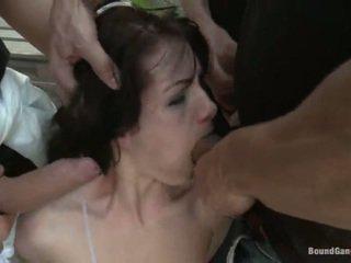 brunette, hardcore sex, deepthroat