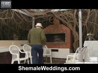 हॉट शीमेल weddings दृश्य starring senna, rabeche, alessandra