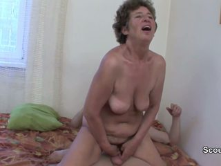 Mom caught young germen step-son and get fuck in asshole