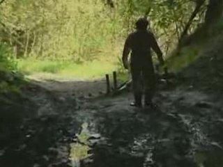 dziewczyna, las, rape