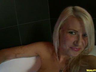 Annika Albrite in the bathtub
