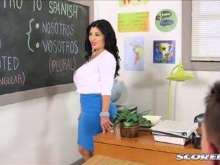 その ボインの lusty スペイン語 教師
