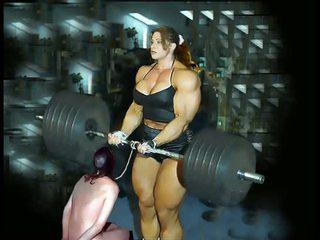 Female bodybuilding fbb bodybuilder ronde dominatrice
