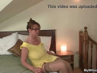 Horny mother inlaw riding his dick