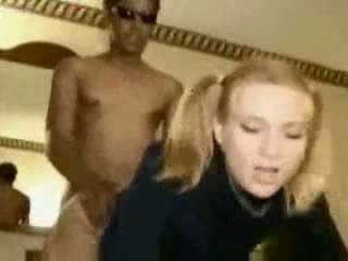 Huge black cock inside her tight pussy Video