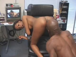 Hypnotic gagging on black cock