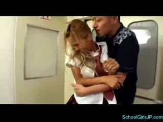 Schoolgirl squirting while fingered in the room