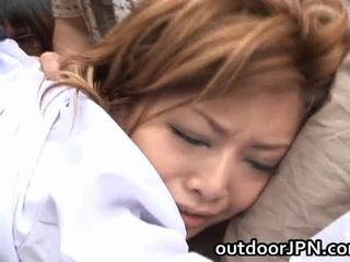 Akane hotaru 性感 亞洲人 模型 receives 組 性交
