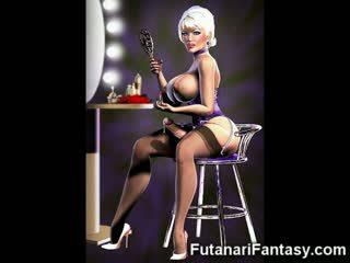 3D Futanari Babes With Huge Cocks!