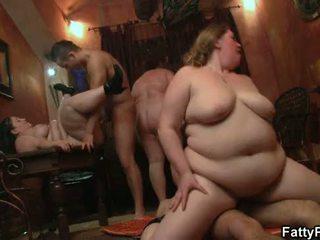 Forró kövér csoportos