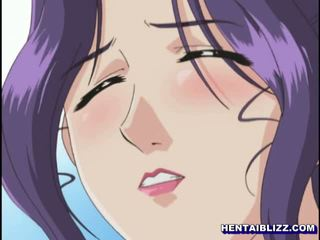 Horny busty anime milf gets licked her wetpussy and assfucked