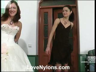 brunette, pussy licking, lesbo